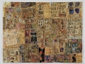 """Jane Obscured, collage,acrylic paint and thread on paper, 48 x 36"""" , 2009"""