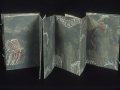 """5. Interior Structures Tryptych, Book I opened, 7 x 26""""."""