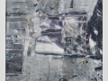 """Seeing silver, photo image , collage and paint on paper, 12 x 12 """" , 2012."""